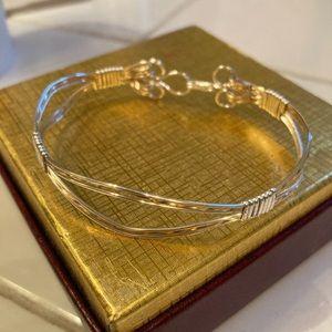 Wire wrapped weave bracelet